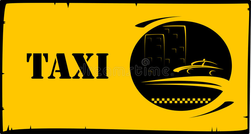 Background for taxi services. Style background for taxi and cab visiting vector illustration
