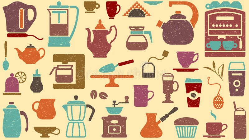 Background Of Tea And Coffee Royalty Free Stock Photography