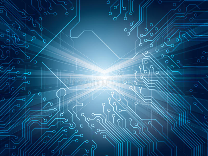 Background technology. Background technologico and integrated circuit vector illustration