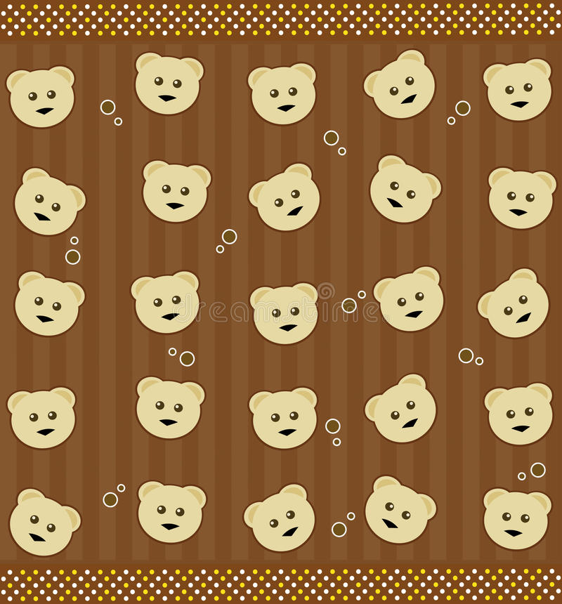 Background with teddy bears royalty free stock photos