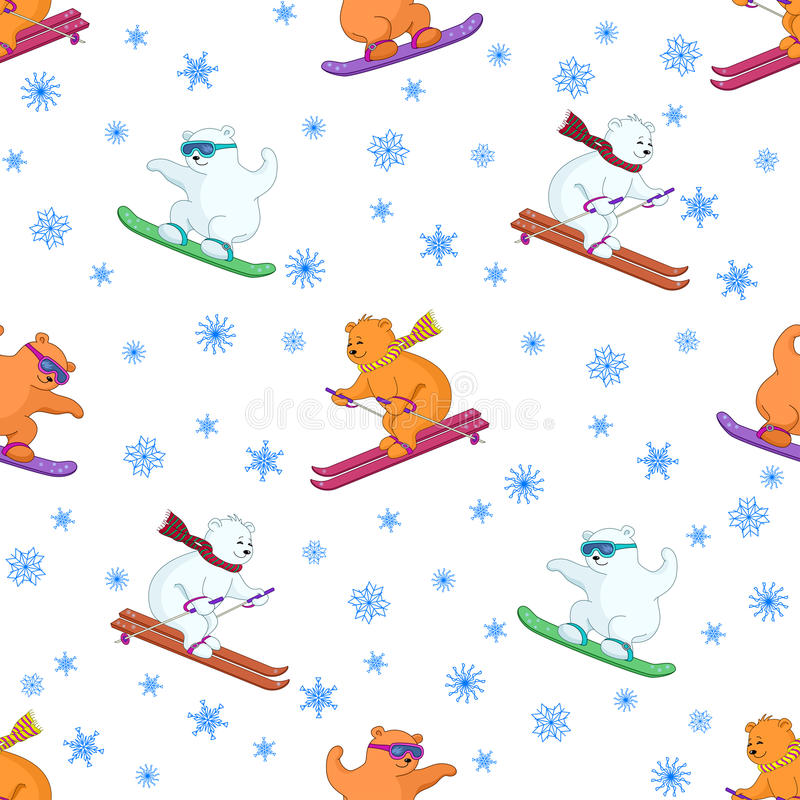 Download Background, Teddy Bears Ski Stock Vector - Image: 18873070