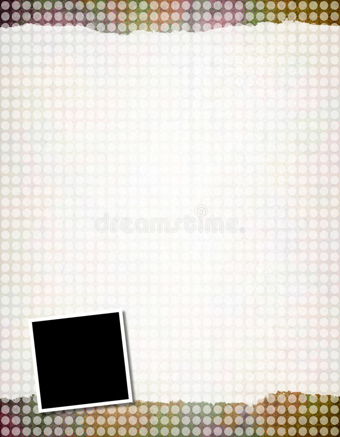 Background Template. This is a grunge background texture with blank photo frames stock illustration