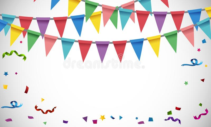 Background template with colorful flags. Illustration stock illustration