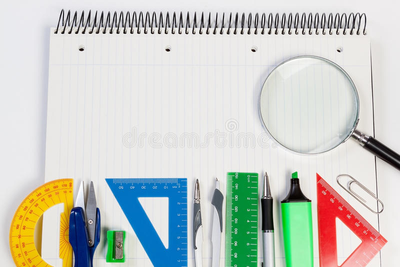Background for text on the Agenda office. Supplies business. stock image