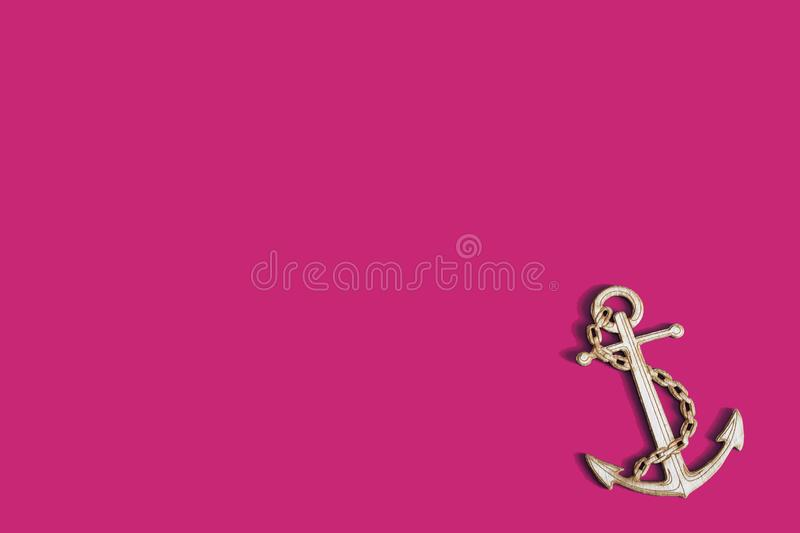 The background for the text anchor nautical on a pink background royalty free illustration