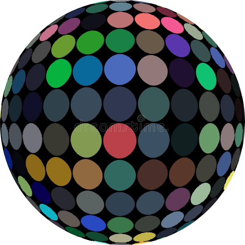 3d sphere dark mosaic abstract graphic. royalty free stock photos