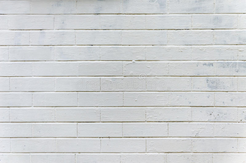 Background, texture brick wall, white color on the whole frame. Horizontal frame royalty free stock photo