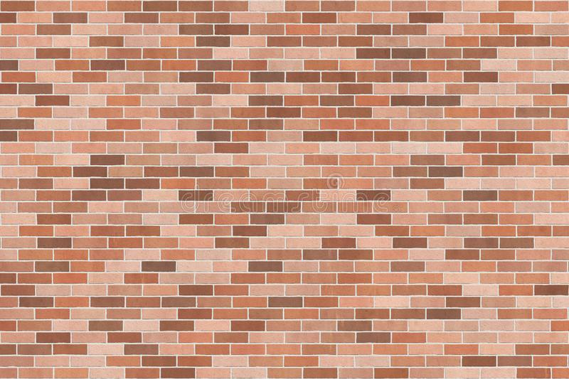 Background texture with brown brick wall royalty free illustration