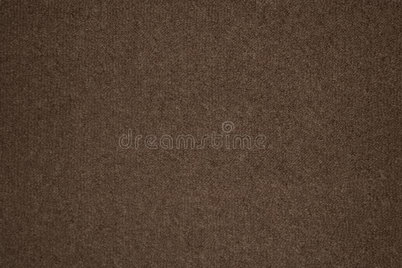 Background texture of brown carpeting royalty free stock image
