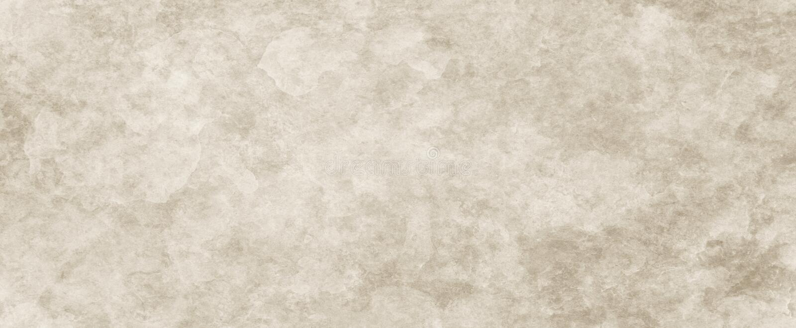 Background texture, brown paper with white textured vintage grunge and faded distressed old parchment royalty free stock photography