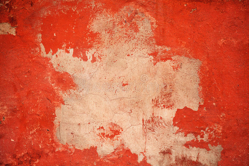 Background texture cement wall. Design space. Flat red background. With a bright spot in the middle. grunge style stock image