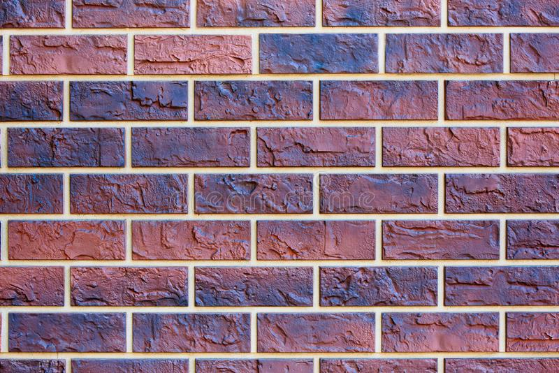Background texture of colored brick wall stock image