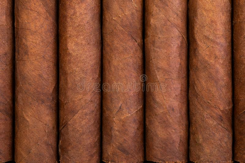 Background and texture of Cuban cigars royalty free stock photos