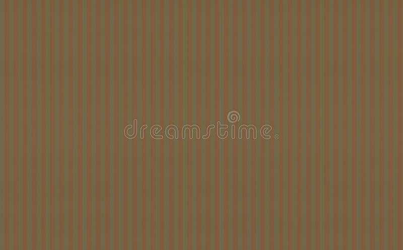 Background texture Mediterranean style base of canvas khaki olive color with red orange vertical. Stripes stock illustration