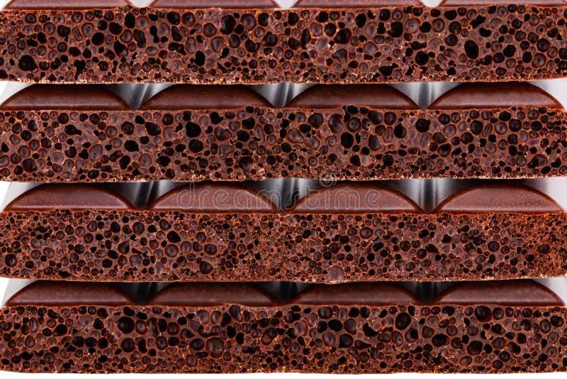 Background texture of milk porous chocolate closeup.  royalty free stock photography