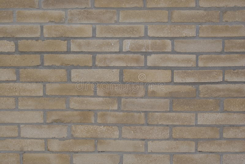 Background texture ocher brick wall royalty free stock image