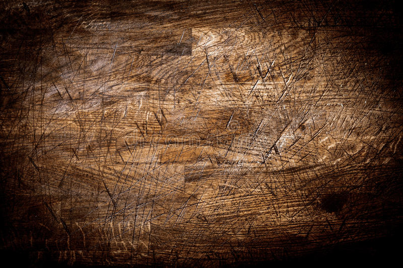 Background texture of old grungy scored wood