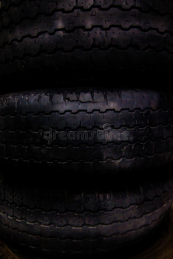Background texture of old tires stock photography