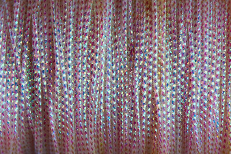 Background texture of pink shiny cord close-up royalty free stock photos