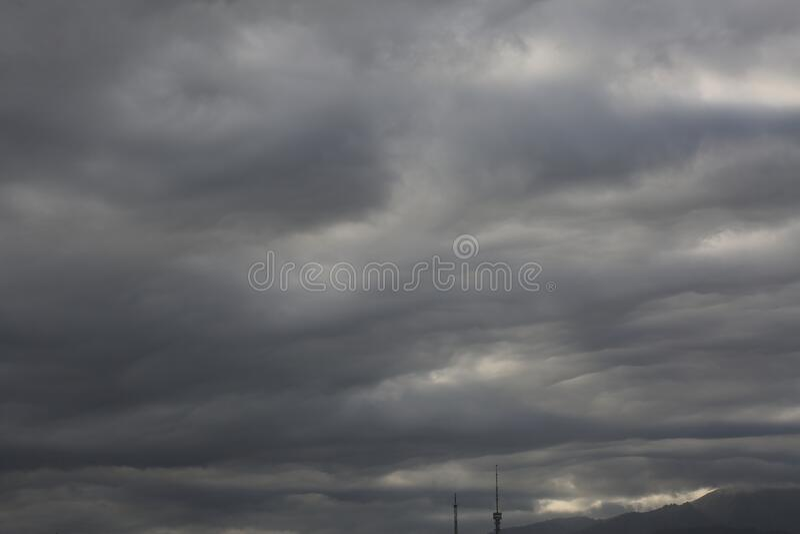Rain clouds. royalty free stock photos