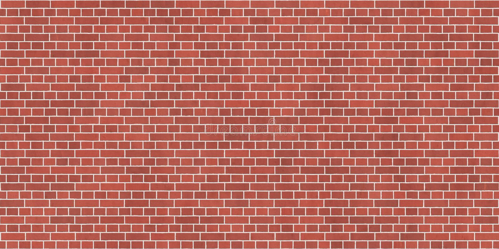 Background texture with red brick wall vector illustration
