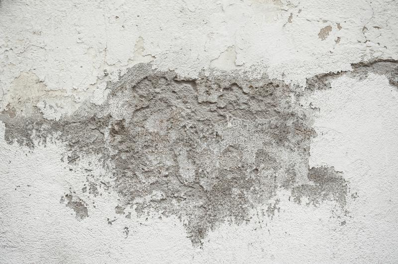 Background and texture of rough and broke white cement wall. Abstract background stock images