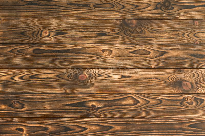 Background texture of rustic brown natural wood stock image