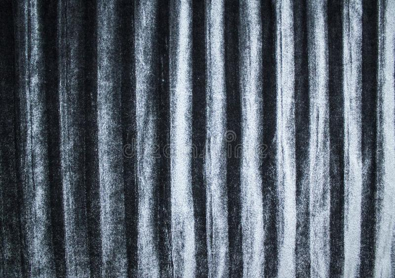 Background and texture of silky pleated velvet fabric in silver grey color royalty free stock photo