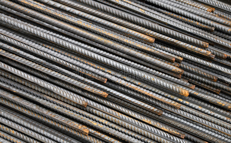 Background texture of steel rods stock images