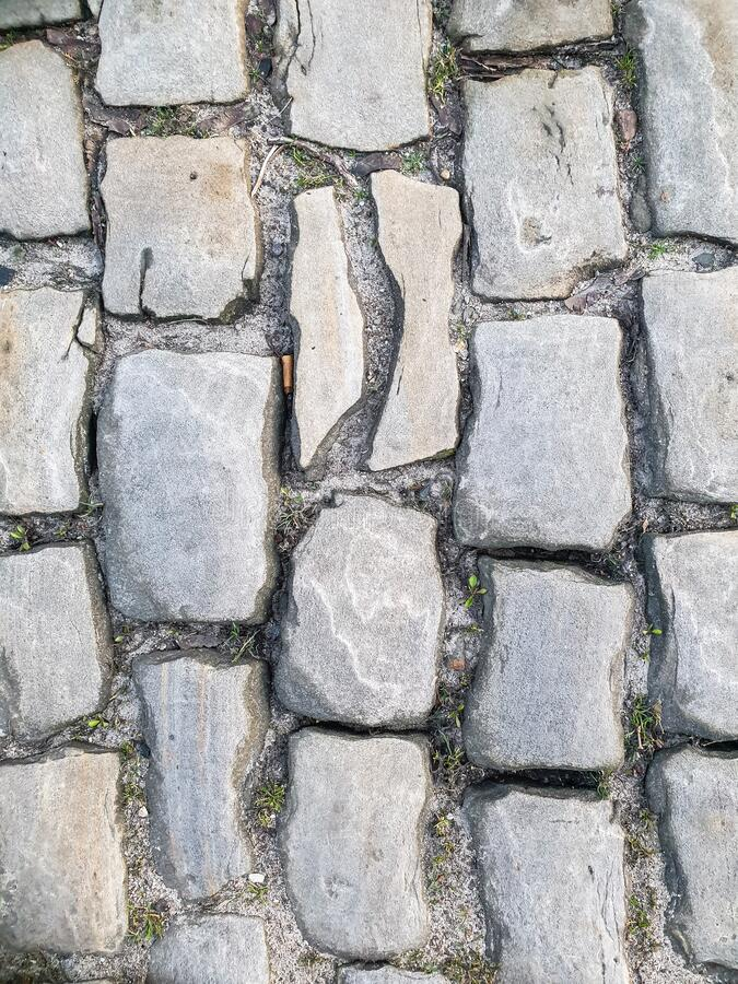 Free Background Texture Street Of Cobble Stones Or Paving Stones Stock Image - 176488561