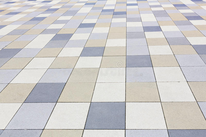 Background texture, tiled pavement. City ground royalty free stock photos