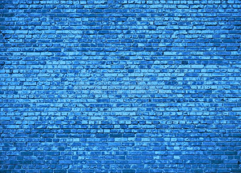 Background texture of the wall, brick. Blue colour. royalty free illustration