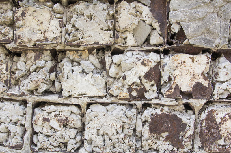 Background texture wall of homemade bricks and cement stock images