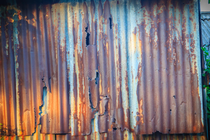 Old Rusted Metal Sheets Vintage Background Stock Photo