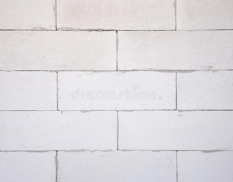 Background texture of white Lightweight Concrete block, Foamed c. Oncrete block, raw material for industrial wall or house wall royalty free stock images
