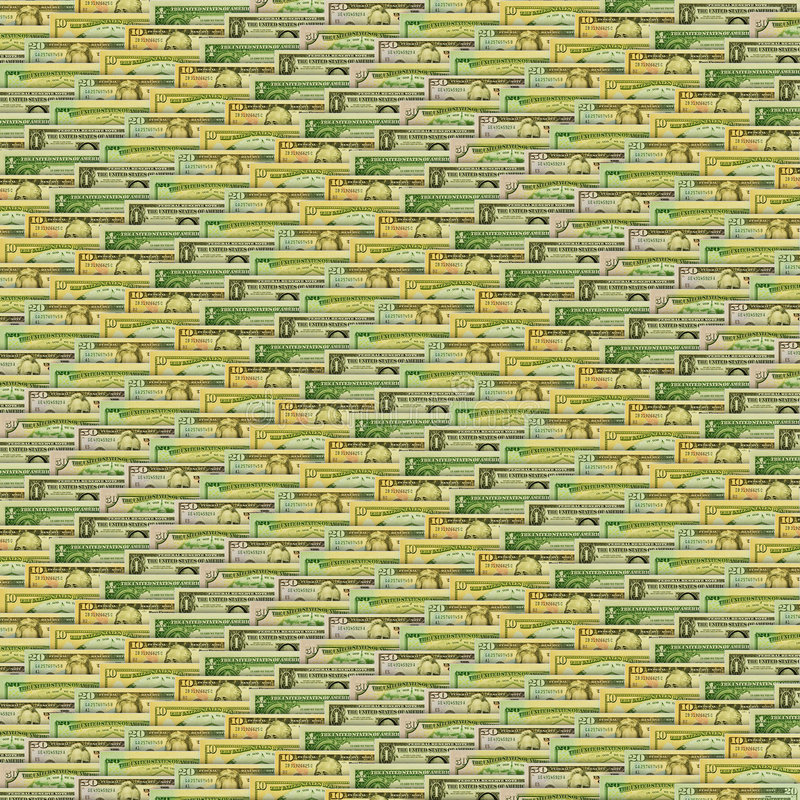 Free Background Texture With Dollar Notes Royalty Free Stock Photos - 6907828