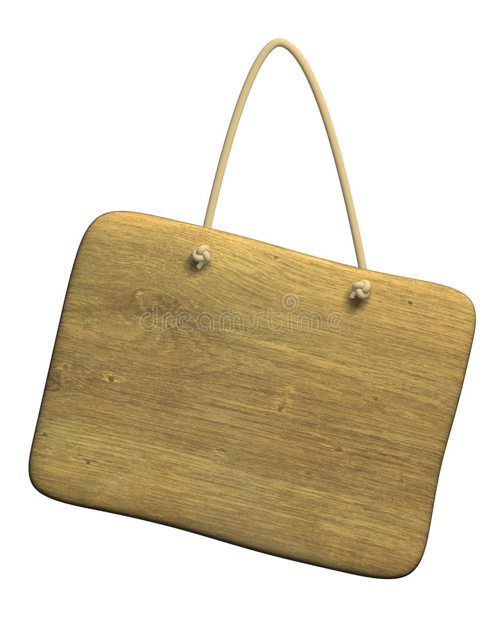 Free Background - The Wooden Tablet On A Cord Royalty Free Stock Photos - 5001238