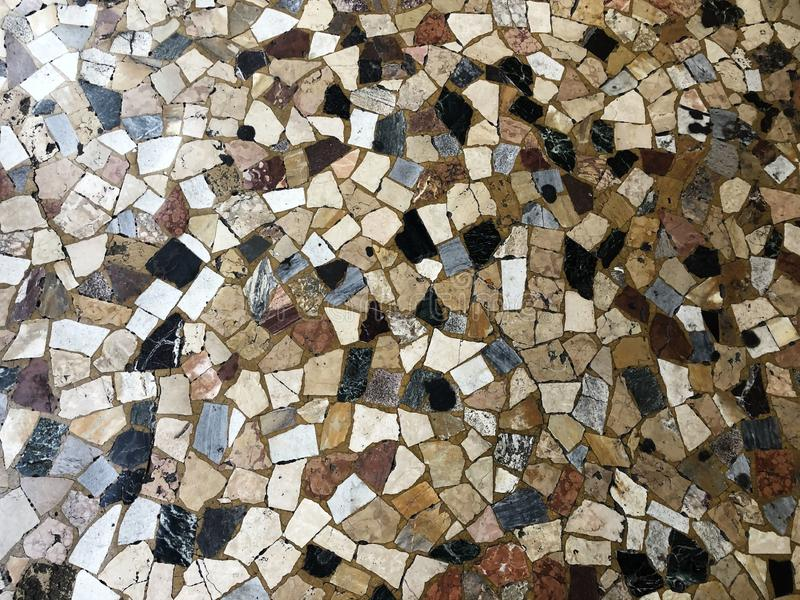 Background of tiles. Colorful mosaic floor. Copy space royalty free stock photos