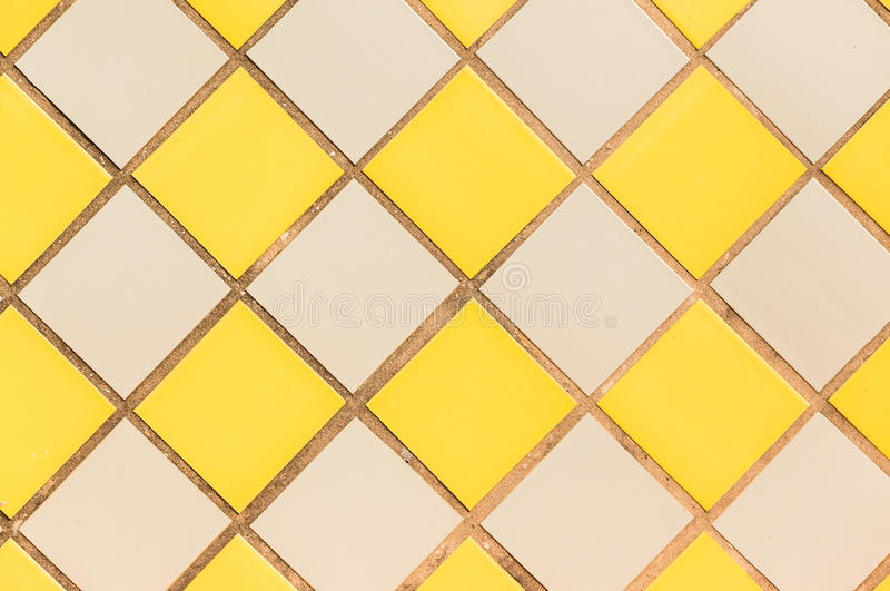 Background Tiles Wall Yellow Grey royalty free stock photos