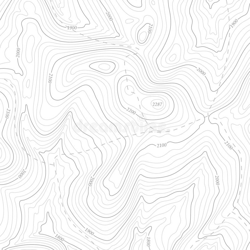 Background of topographic line contour map, geographic grid map. stock photo
