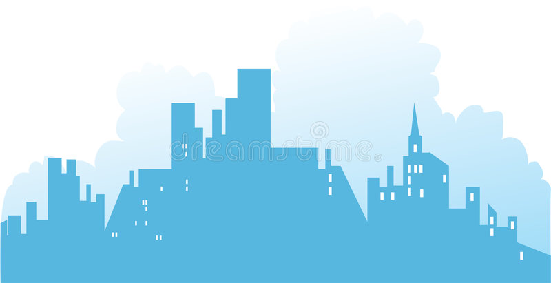 Download Background - Town - 2 stock vector. Image of residential - 4198104