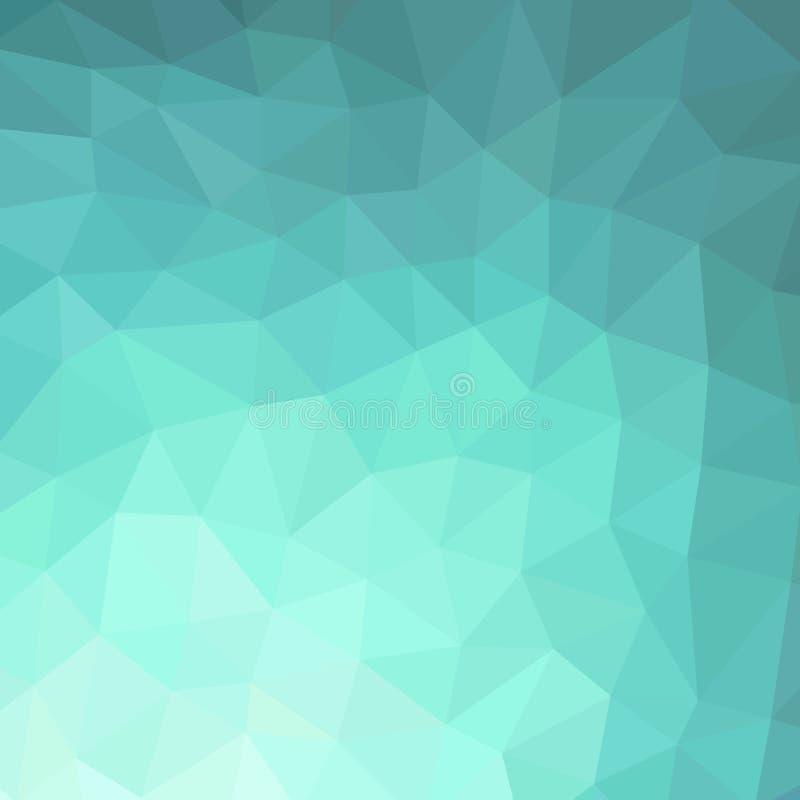Background of turquoise rhombus stock illustration