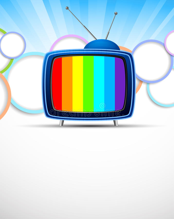 Download Background with tv stock vector. Image of retro, blank - 27033189