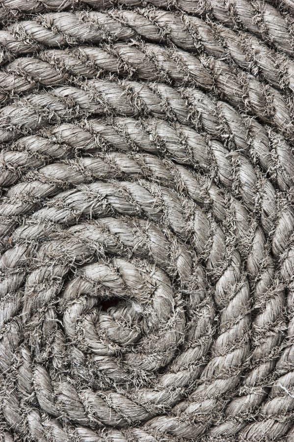 Twisted hemp rope. Background of twisted hemp rope stock image
