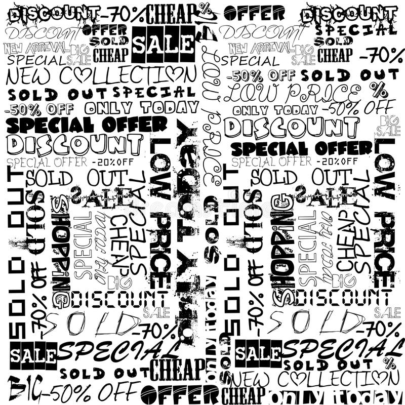 Download Background Typography With Sale Terms Stock Vector - Image: 28093651