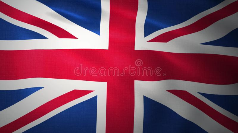 Background - UK flag. United Kingdom flag. 3D rendering royalty free illustration