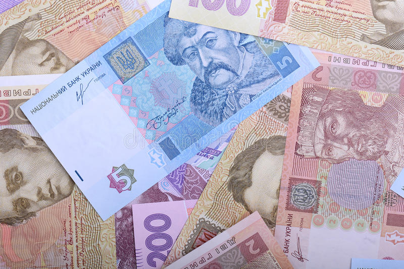 Background of the Ukrainian money - UAH. Financial concept royalty free stock photo