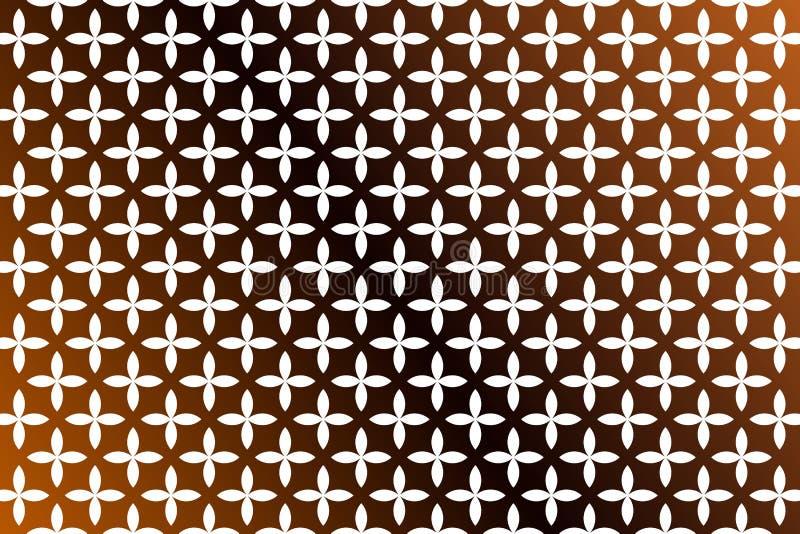 Light brown and dark brown mustard flower star template phone wallpaper stock illustration