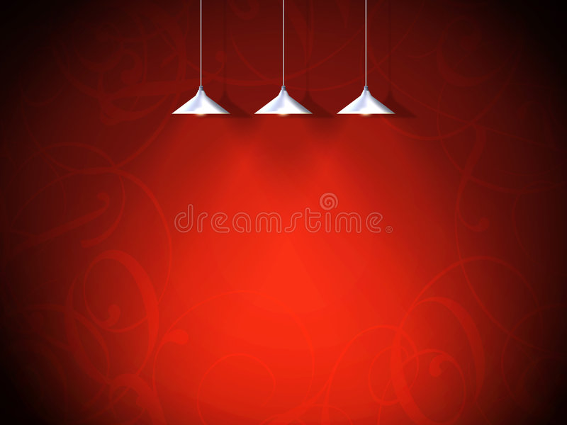 Background, valentine. A red background with lamps vector illustration