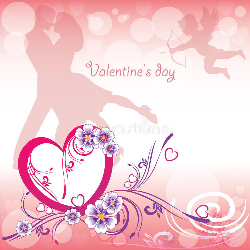 Background Valentine's Day royalty free illustration